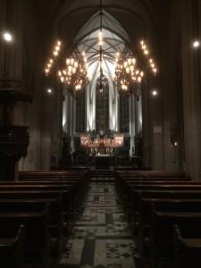 Neue Beleuchtung für die Pfarrgemeinde St.Dionysius in Nieukerk ermöglicht neue Möglichkeiten der Festgestaltung.